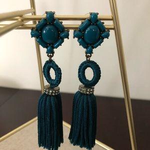 Baublebar Teal Tassel Earrings